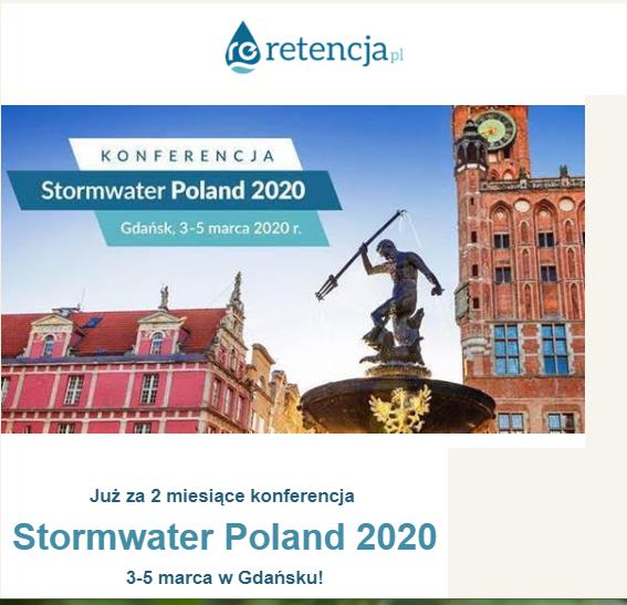Wkrótce Stormwater Poland 2020! 💧 - w Gdańsku